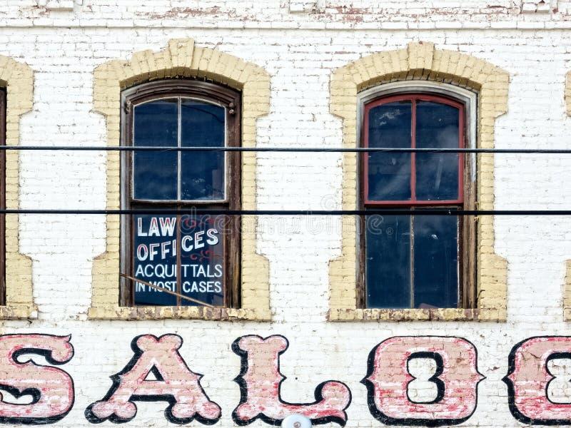 Rechtsanwaltsbüro im alten Westen lizenzfreie stockfotos