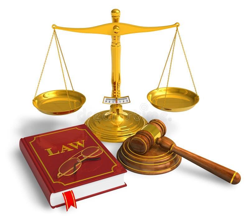 Rechtsauffassung lizenzfreie abbildung