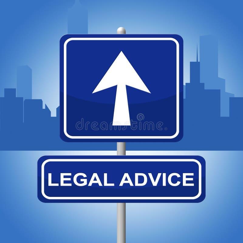 Rechtsberatung bedeutet Gericht erlaubterweise und Rechtswissenschaft stock abbildung