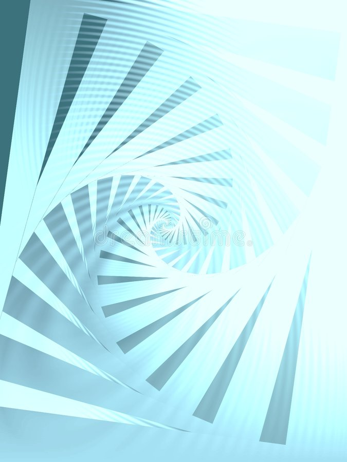 Rechtses herum gewundenes Muster-Blau vektor abbildung