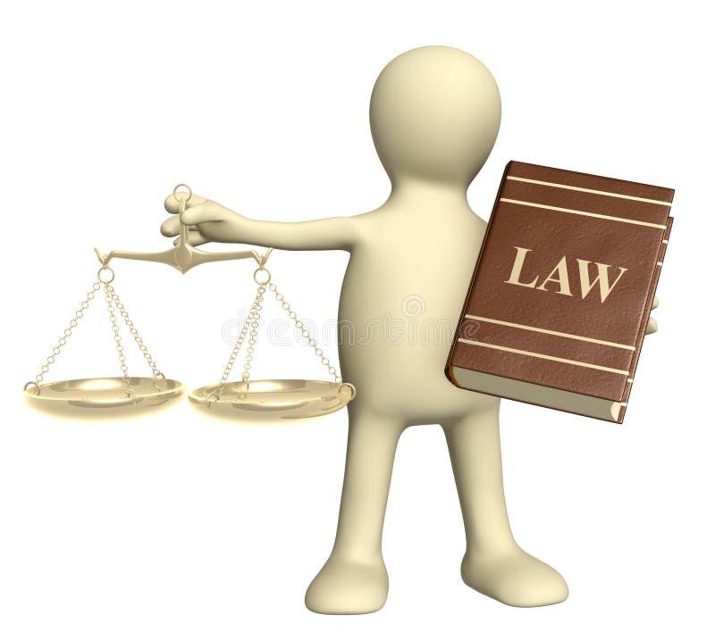 Rechtssprechung stock abbildung