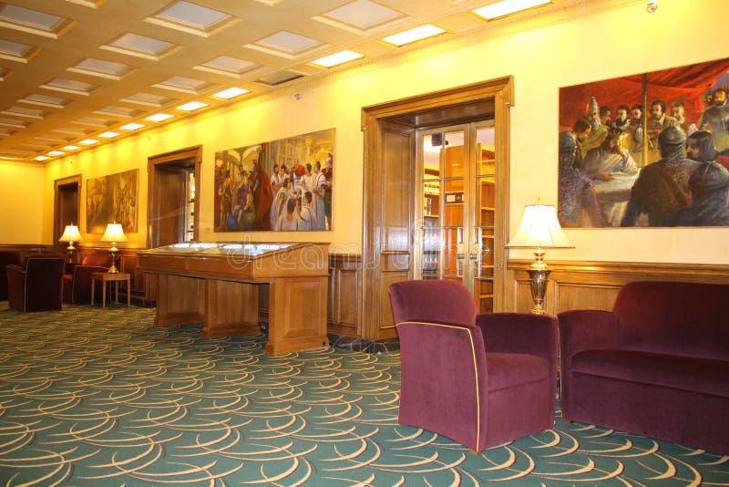 Rechtsstaatlichkeits-Galerie, Ohio-Gerichtsmitte, Oberstes Gericht von Ohio, Columbus Ohio lizenzfreies stockbild