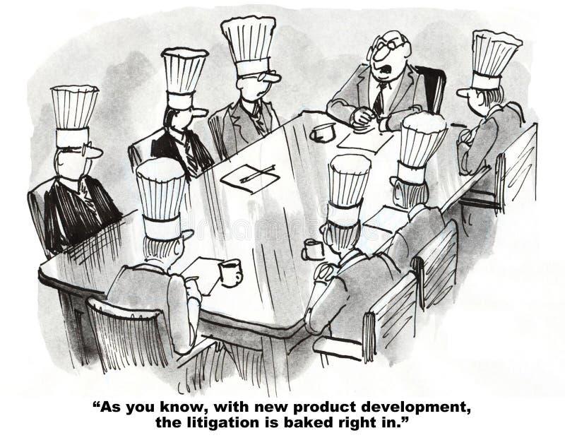 Rechtsstreit und Entwicklung neuer Produkte vektor abbildung