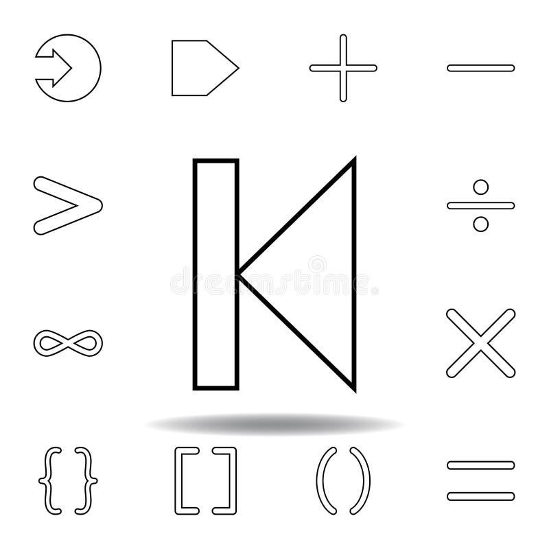 rechtstreeks en pijlpictogram Dunne die lijnpictogrammen voor websiteontwerp en ontwikkeling, app ontwikkeling worden geplaatst H royalty-vrije illustratie