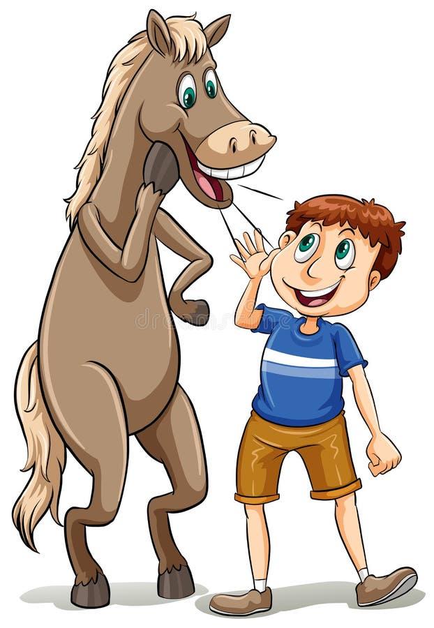 Rechtstreeks van de paardmond royalty-vrije illustratie