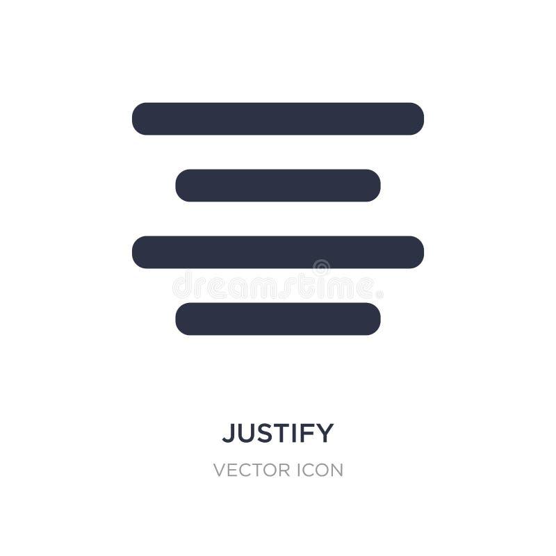 rechtvaardig pictogram op witte achtergrond Eenvoudige elementenillustratie van UI-concept stock illustratie