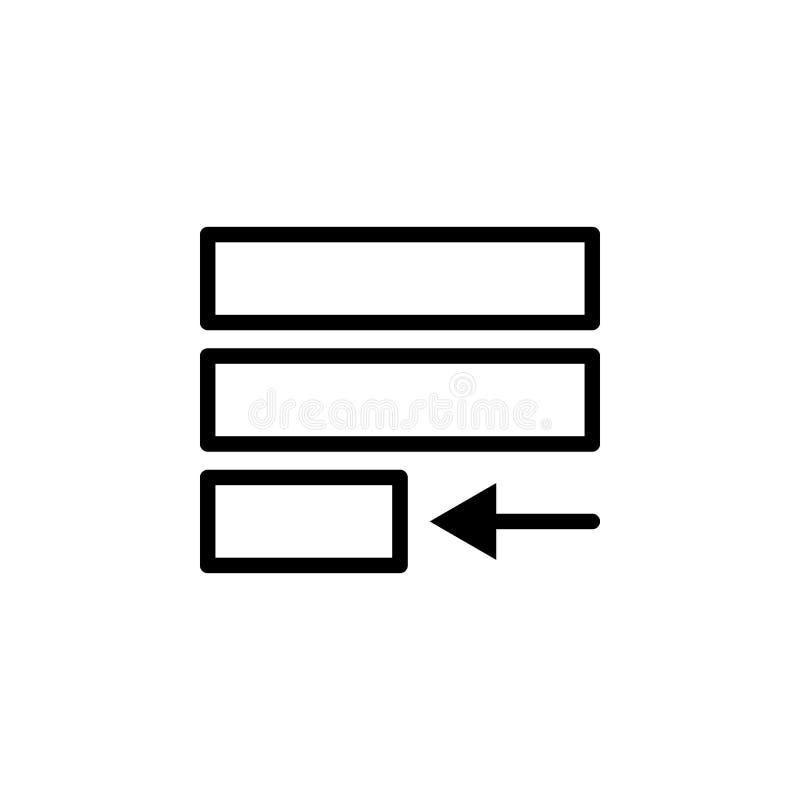 Rechtvaardig tekstpictogram Kan voor Web, embleem, mobiele toepassing, UI, UX worden gebruikt stock illustratie