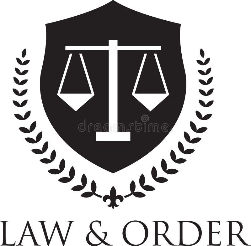 Rechtvaardigheid Logo royalty-vrije illustratie