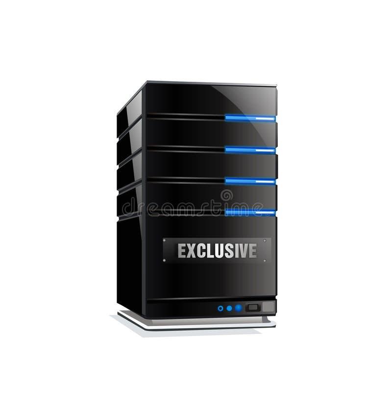 Recibimiento del servidor del ordenador ilustración del vector