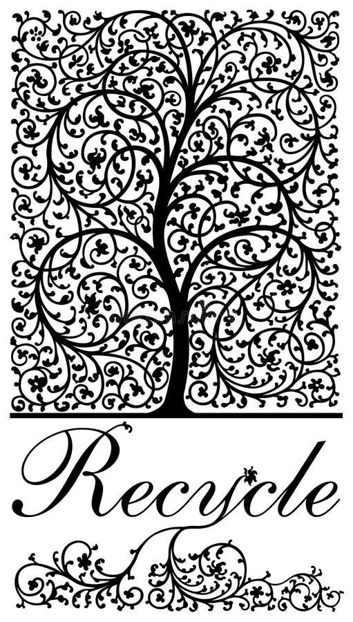 Recicl a árvore ilustração do vetor
