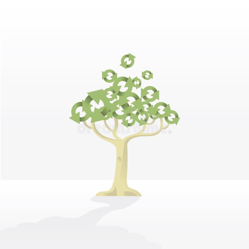 Recicl a árvore fotos de stock