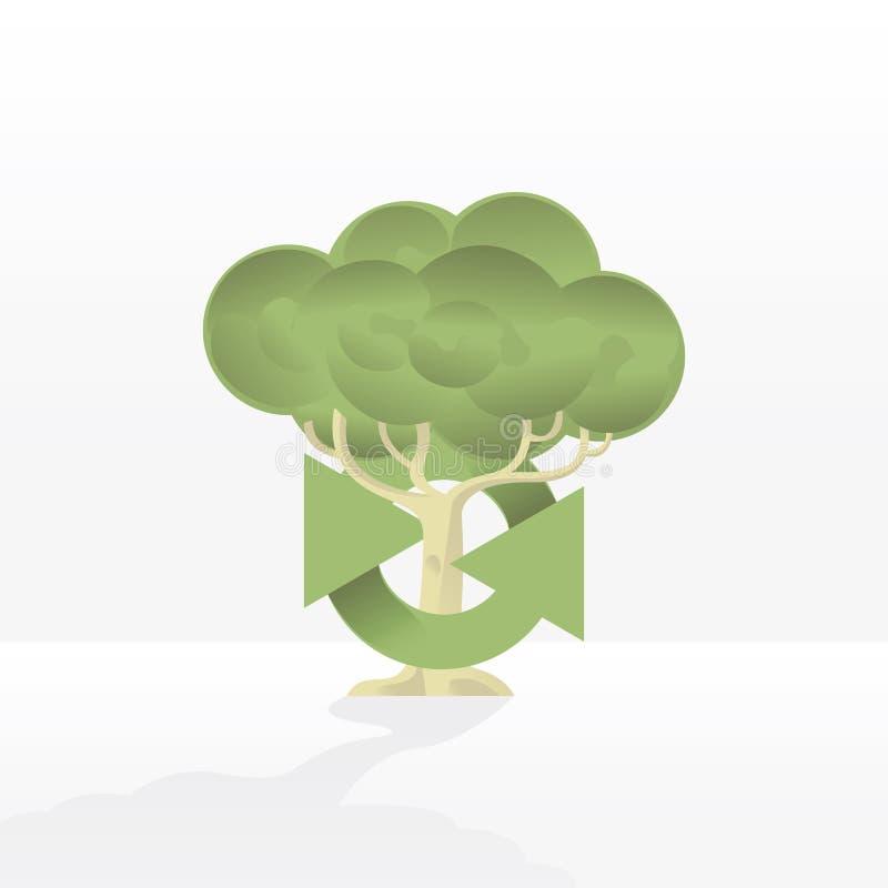 Recicl a árvore imagem de stock