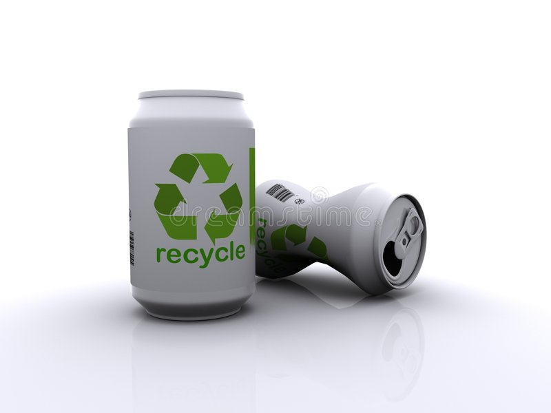 Recicl as latas gráficas   ilustração royalty free