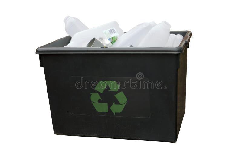 Recicl a caixa imagem de stock