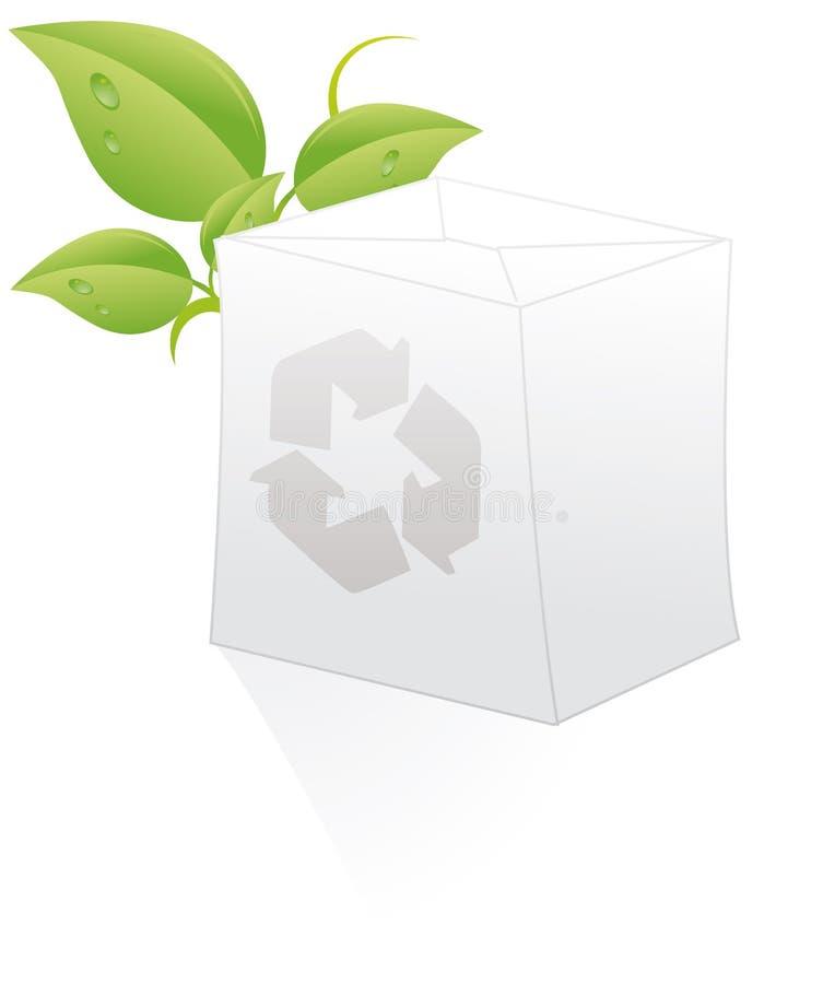 Recicl a caixa ilustração do vetor