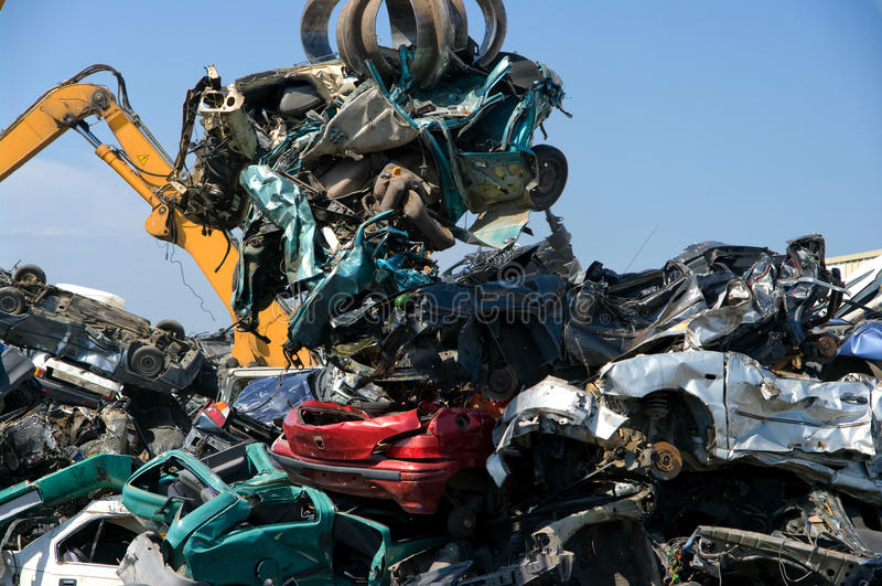 Recicl da pilha do carro imagens de stock royalty free