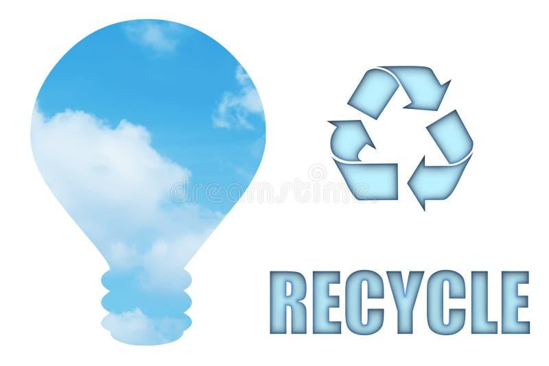 Recicl e conserve nosso planeta ilustração do vetor
