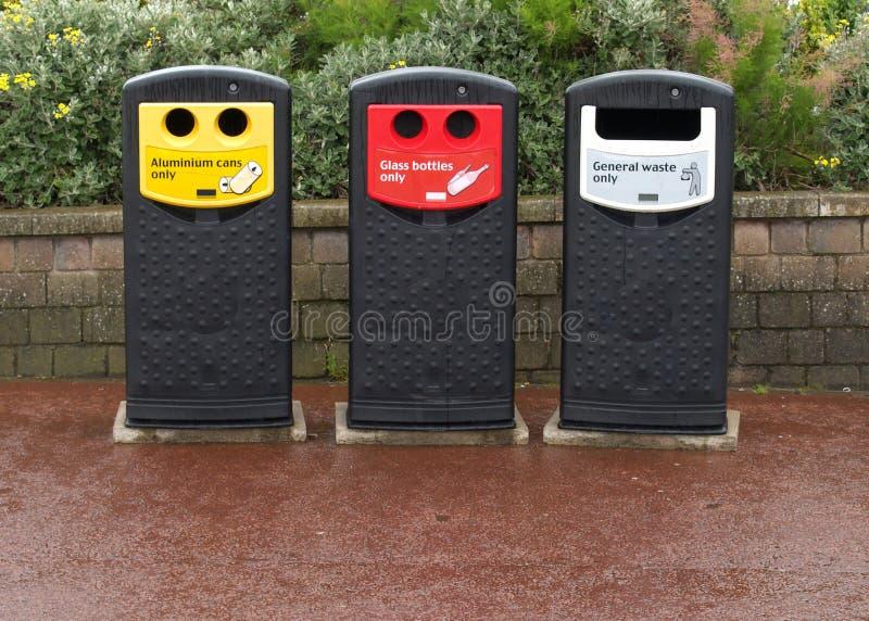 Recicl escaninhos fotografia de stock
