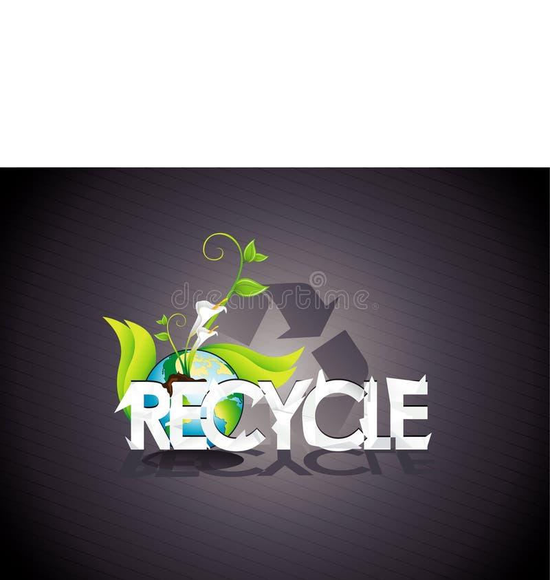 Recicl a ilustração ilustração do vetor