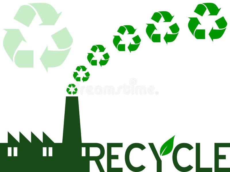 Recicl a indústria ilustração royalty free