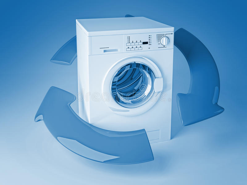 Download Recicl A Máquina De Lavar 3d Ilustração Stock - Ilustração de energia, balão: 16872518