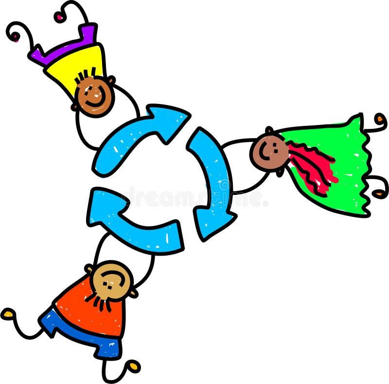 Recicl miúdos ilustração royalty free