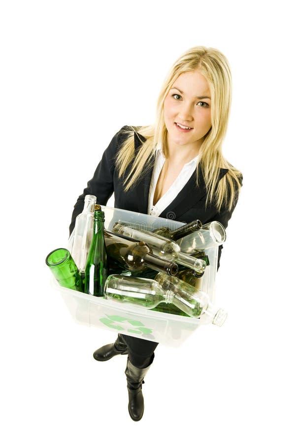 Recicl a mulher imagem de stock royalty free
