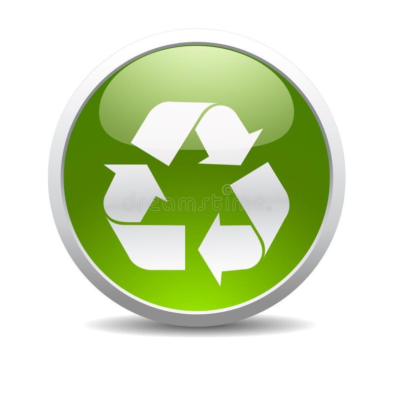 Recicl o ícone do símbolo ilustração royalty free