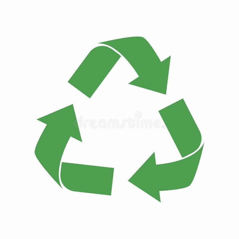 Recicl o ícone Setas verdes do ciclo do eco Recicle o símbolo na ecologia ilustração do vetor