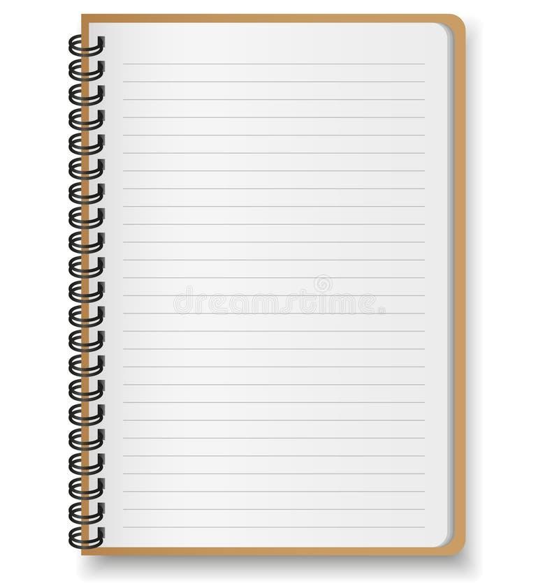 Recicl o caderno de papel ilustração royalty free