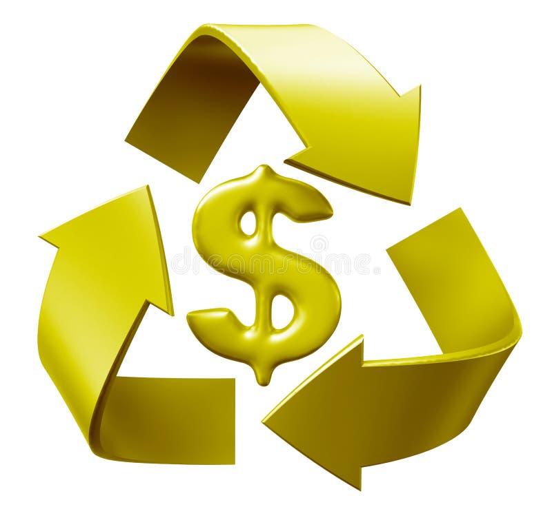 Recicl o dólar ilustração stock
