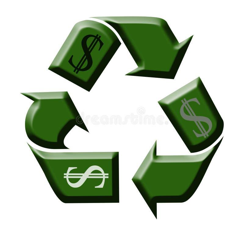 Recicl o dinheiro ilustração royalty free