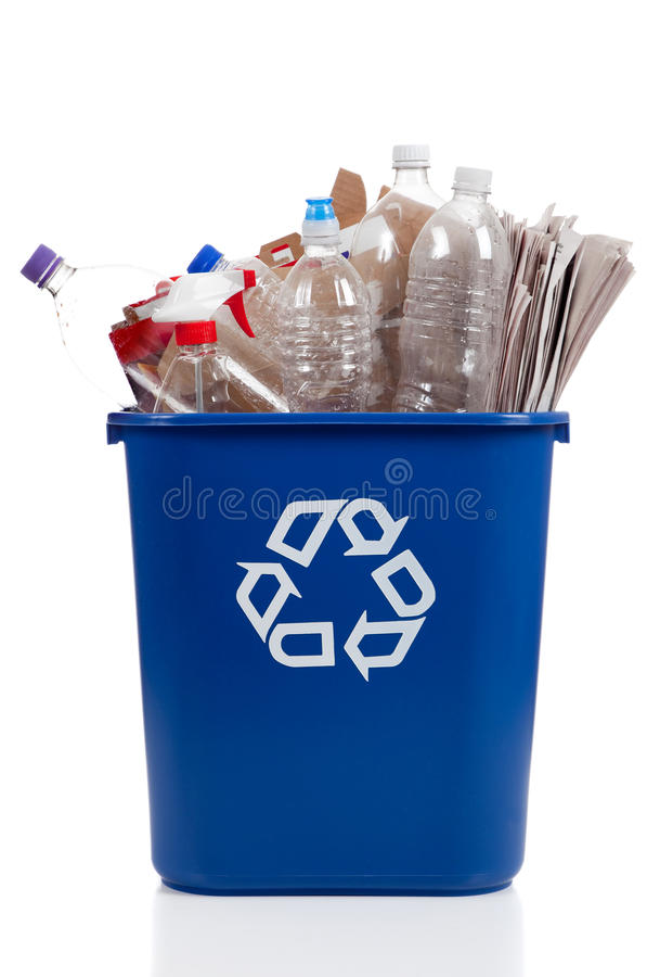 Recicl o escaninho foto de stock