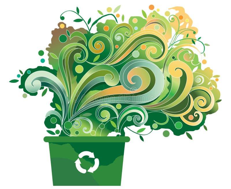 Recicl o escaninho ilustração royalty free
