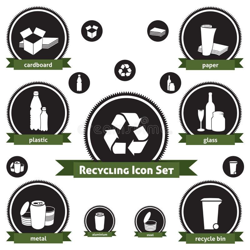 Recicl o jogo do ícone ilustração royalty free
