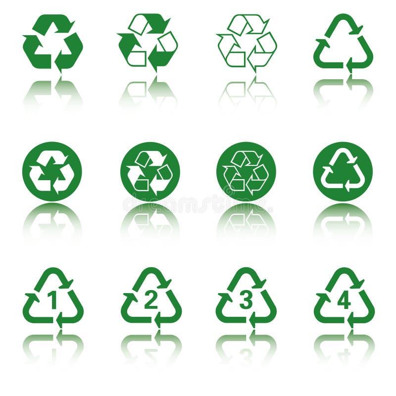 Recicl o jogo do ícone ilustração do vetor