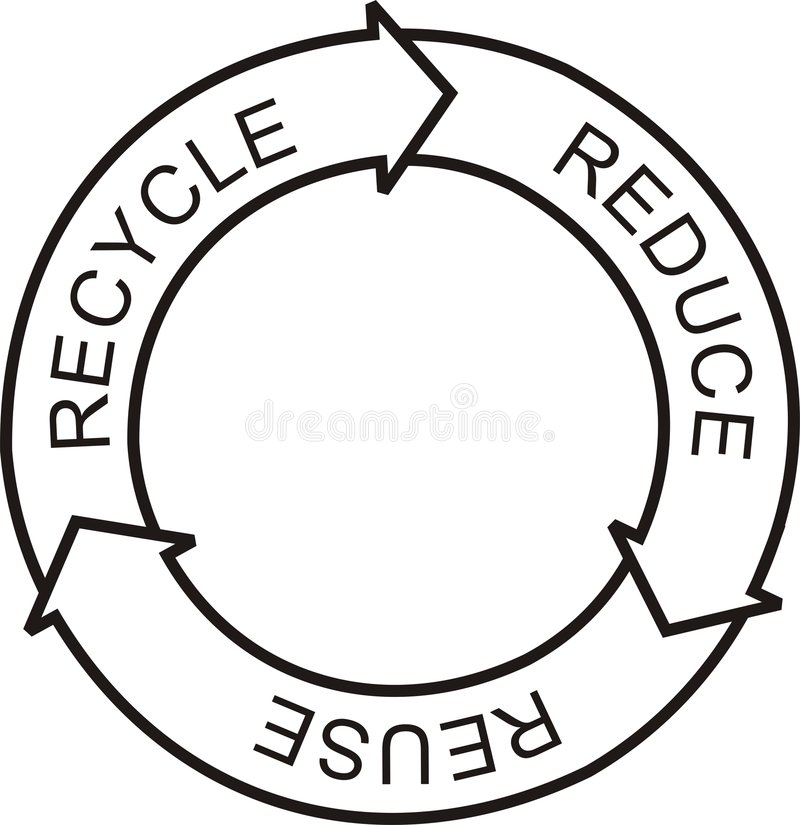 Recicl o logotipo foto de stock