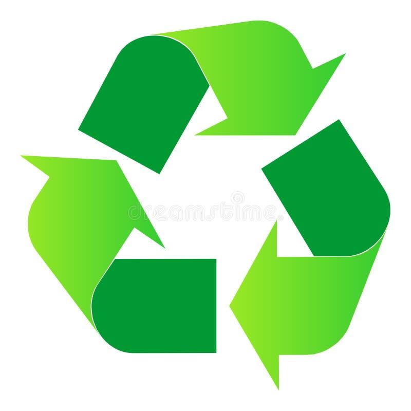 Recicl o logotipo imagem de stock