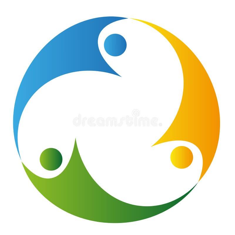 Recicl o logotipo dos povos ilustração stock