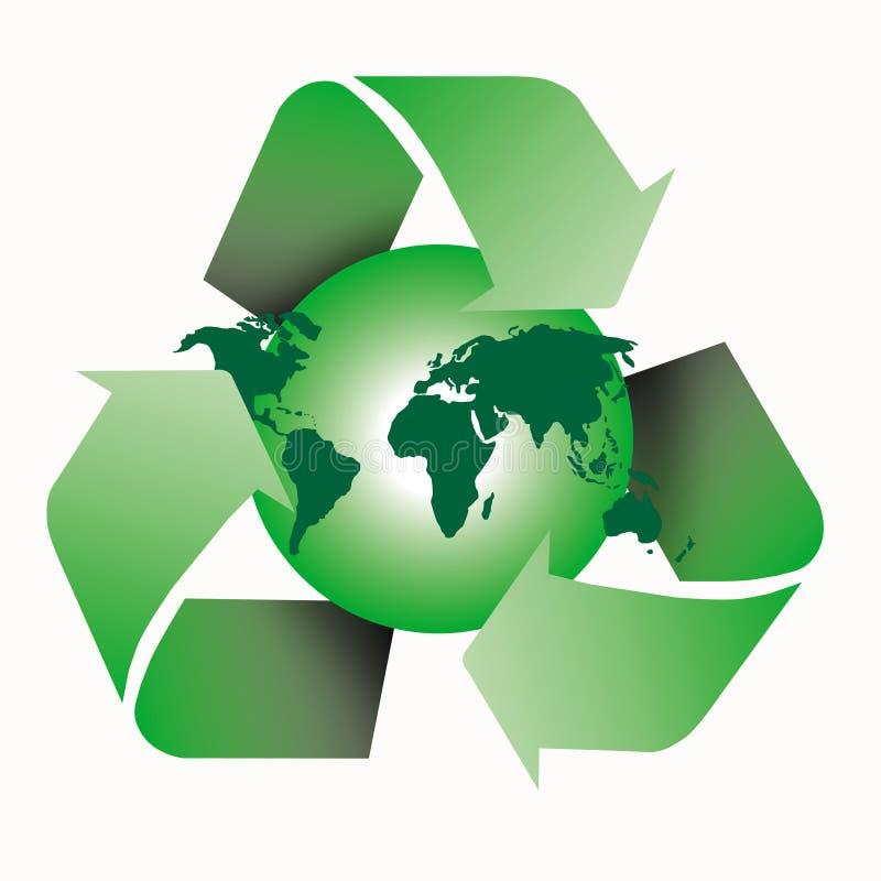 Recicl o mundo ilustração stock