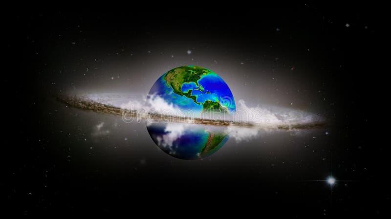 Recicl o mundo ilustração royalty free