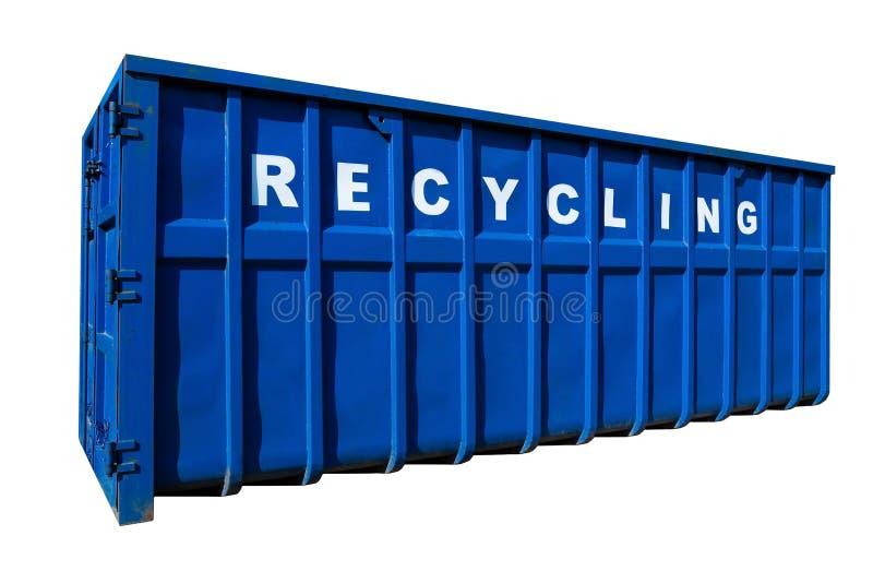 Recicl o negócio, o recipiente e a ecologia isolaram-se fotografia de stock