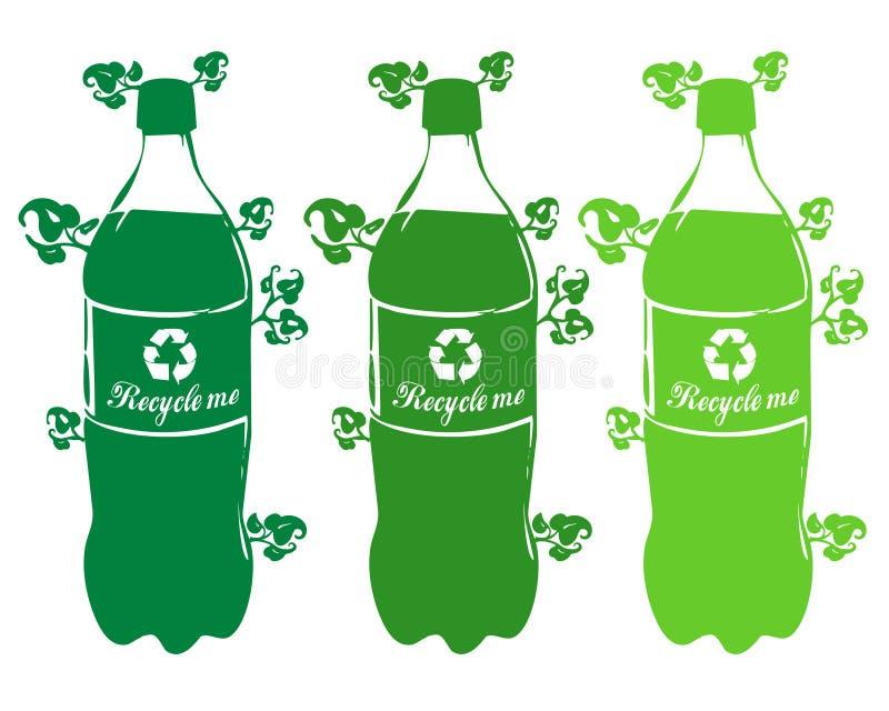 Recicl o plástico ilustração royalty free
