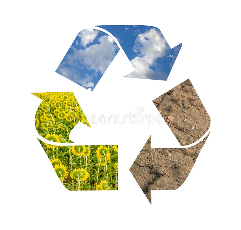 Recicl o símbolo fotos de stock