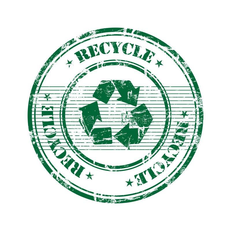 Recicl o selo ilustração royalty free