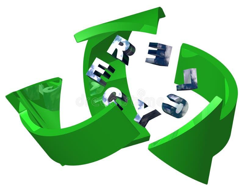 Recicl o sinal ilustração stock