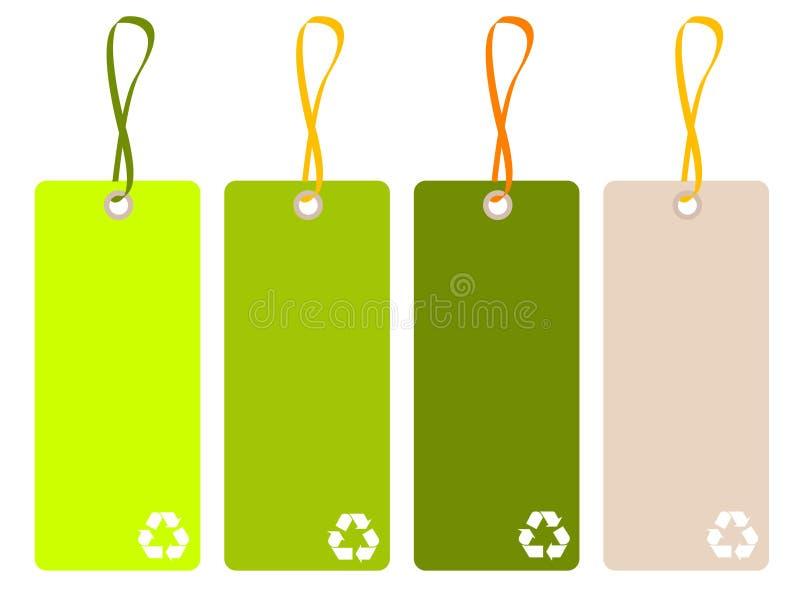 Recicl o Tag ilustração royalty free