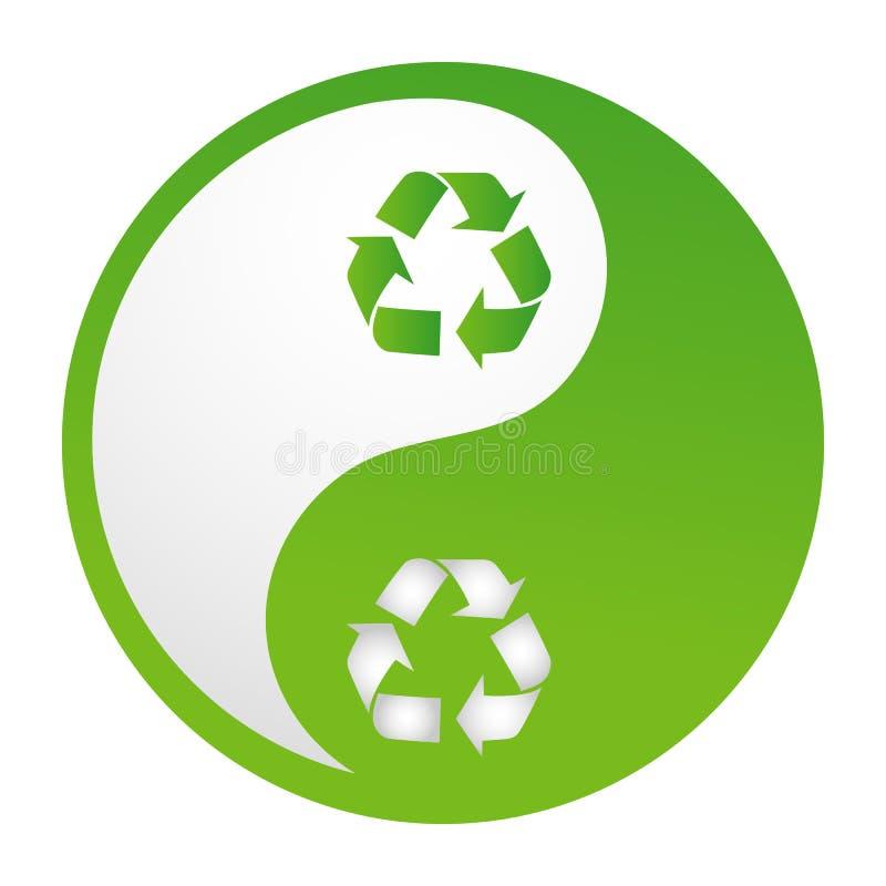 Download Recicl o yinyang ilustração stock. Ilustração de cultura - 16870621