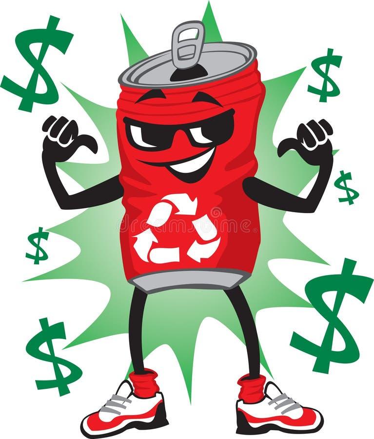 Recicl pode caráter ilustração stock