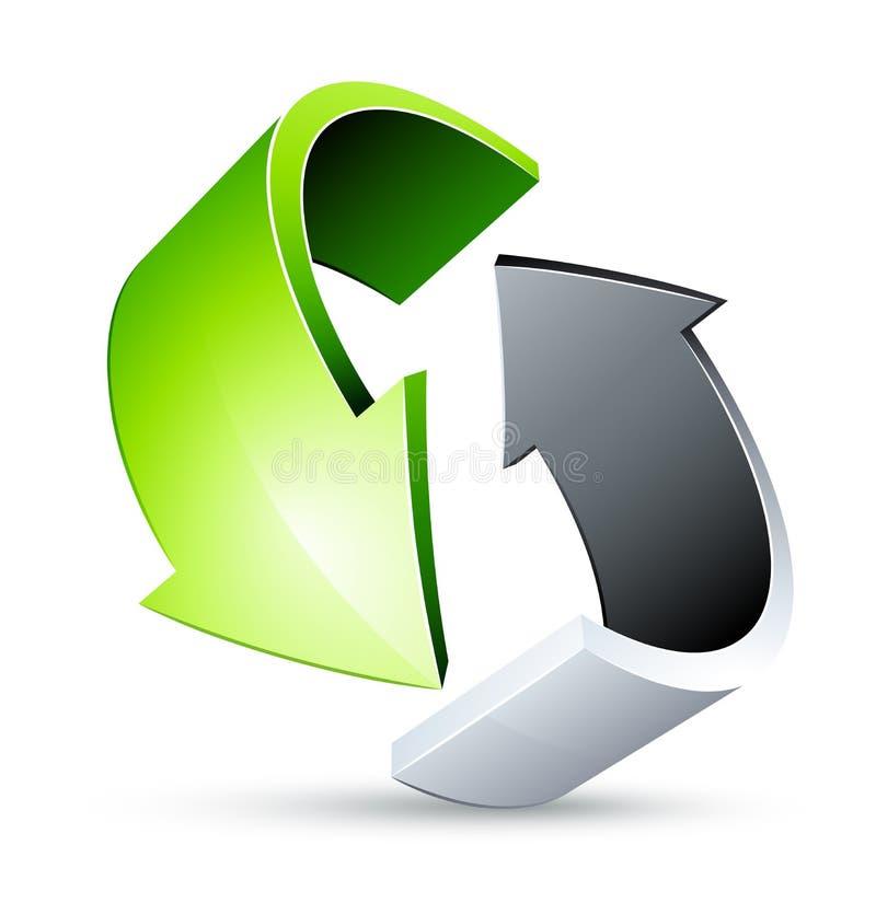 Recicl setas. Recicl o símbolo ilustração stock